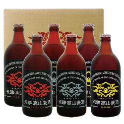 飛騨高山麦酒クラフトビール 淡黄ビールセット